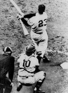 "Bobby Thompson's ""Shot heard around the world"" in the 1951 World Series vs. the Brooklyn Dodgers."