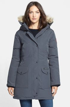 Canada+Goose+'Trillium'+Regular+Fit+Down+Parka+with+Genuine+Coyote+Fur+Trim+available+at+#Nordstrom
