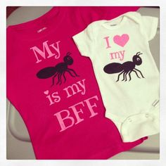 Love my Aunt  You Select Quote  Toddler   Tee  by bugarooboutique, I wonder if I could get a bee on there, as well. I   *heart* my {picture of an ant} {picture of a bee}