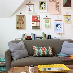 23 More Inspiring DIY Wall Art Ideas - Hangers for posters