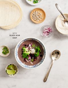 Spicy Black Bean Soup / Love and Lemons