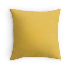 Primrose Yellow / Ochre / Pale Sepia Solid Pantone Color of The Year 2017 Throw Pillow Yellow Throw Pillows, Decorative Throw Pillows, Neutral Pillows, Decoration Ikea, Decorations, Pastel Yellow, Lemon Yellow, Mint Green, Mustard Yellow