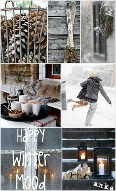 Winter Moodboard  ~ lovingly repinned by www.skipperwoodhome.co.uk