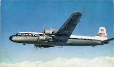 POSTCARD - AIRCRAFT - UNITED AIRLINES DC - 7
