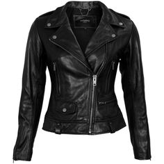 VIPARO Black Lambskin Umi Jacket (10.245 UYU) ❤ liked on Polyvore featuring outerwear, jackets, tops, leather jackets, coats & jackets, black, lambskin leather jackets, lambskin jacket, lamb leather jacket and fleece-lined jackets