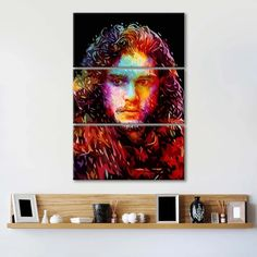 Jon Snow Multi Panel Canvas Wall Art by ElephantStock is printed using High-Quality materials for an elegant finish. We are the specialists in Modern Décor canvas prints and we offer 30 day Money Back Guarantee Artist Canvas, Artist Painting, Artist Art, Canvas Size, Canvas Wall Art, Canvas Prints, Create Canvas, Indie Art, Black Artists