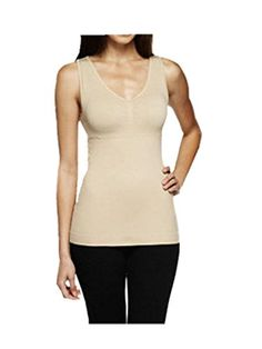 ea8b79f5ceb58 Leright Womens Shapewear Seamless Tailored Tank Top Firm Control Camisole  Nude MUS SIZE Small -- See this great product.