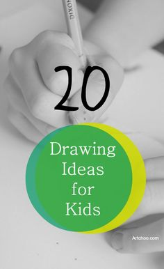 20 Drawing Ideas for Kids- such a great collection of ideas for all ages.