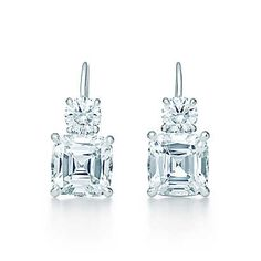 Tiffany & Co. -  Tiffany Legacy® earrings in platinum with diamonds.