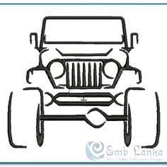 Jeep design for Grandpa (free) Sahara Jeep, Jeep Drawing, Jeep Tattoo, Modelos 3d, Truck Art, Machine Embroidery Patterns, Embroidery Ideas, Jeep Wrangler Unlimited, Jeep Life