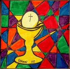 Check out student artwork posted to Artsonia from the First Communion Stained Glass project gallery at St. Catholic School, Stained Glass Projects, First Holy Communion, Art Lesson Plans, Art Museum, Art For Kids, Art Projects, Student, Display