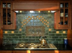 Terra Firma Arts and Crafts tiles installation examples.