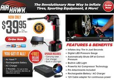 Air Hawk is a cordless, handheld air compressor which allows you to inflate tires and other items in minutes. Does it work? Read our Air Hawk review.