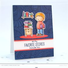 Our Story Stamp Set and Die-namics, Wavy Coloring Book Background - Debbie Olson  #mftstamps