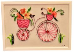 Quilling Tutorial, Quilling Ideas, Paper Quilling Cards, Paper Strips, Bicycles, Homework, Fathers Day, Origami, Card Ideas