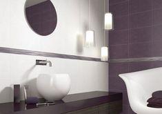 carrelage faience salle de bain couleur prune