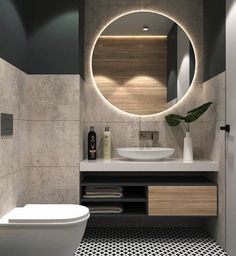 Modern Bathroom Decor Ideas Match With Your Home Design Style 32 Modern Bathroom Design, Bathroom Interior Design, Bathroom Styling, Bathroom Designs, Modern Bathrooms, Modern Bathroom Furniture, Modern Toilet Design, Modern Bathroom Vanities, Unusual Bathrooms