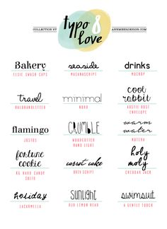 *ann.meer: Lovely Fonts #8