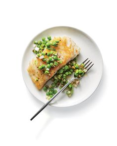 Cod with Herbed Pea Relish | Learn how to make Cod with Herbed Pea Relish . MyRecipes has 70,000+ tested recipes and videos to help you be a better cook