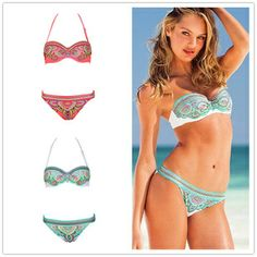 Wholesale Sexy Deep V Bikini Set New Style Metal Chain Halter Swimsuit Set Women Padded underwire Swimwear & swimsuits for women