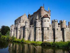 The Gravensteen Castle in Ghent, Belgium