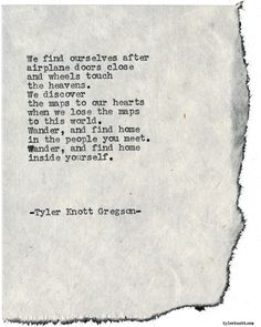 Typewriter Series #1760 by Tyler Knott Gregson