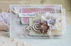 Бум-Бюро. Денежная птичка. Shabby card with secret pocket.