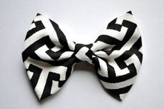 Aztec Print Black White Soft Bow Clip for Newborn Baby Child Little Girl Photo Prop Adorable Holiday Headband by LittleKateDesigns on Etsy https://www.etsy.com/listing/165294323/aztec-print-black-white-soft-bow-clip