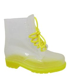 Love this Yokids Yellow Leticia Rain Boot by Yokids on #zulily! #zulilyfinds