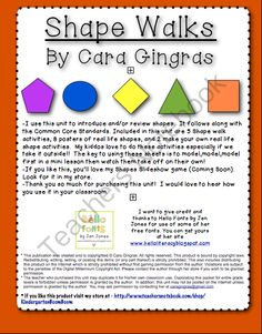 Shape Walk from Kindergarten Boom Boom on TeachersNotebook.com (17 pages)