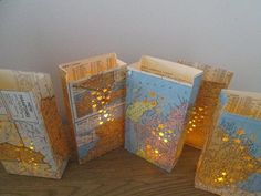 Map Themed Wedding | State Themed Luminaries, Travel Theme, Map Decor, Wedding Decor Maps ...