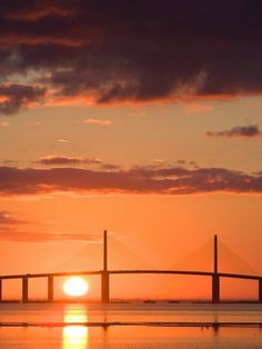 Tampa Bay Florida. 10 minutes from home.  The Sunshine Skyway Bridge is very impressive..my home