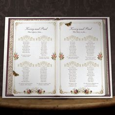 UNIQUE STORY BOOK STYLE PERSONALISED WEDDING TABLE SEAT PLAN PLANNER in Home, Furniture & DIY, Celebrations & Occasions, Cards & Stationery | eBay