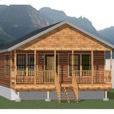 Cabin Plans With Loft, Loft Floor Plans, Small House Floor Plans, House Plan With Loft, Cabin House Plans, Log Cabin Homes, Small Cabin Plans, Prefab Log Homes, Prefab Cabin Kits