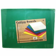 """BOARD CUT NSF GREEN 15x20, EA, 13-0888 Challenger CUTTING BOARDS by Challenger. $22.80. Package: EA. *  Color-coded cutting boards available in six colors   *  Polyethylene material is sanitary, durable, and dishwasher safe   *  Complies with strict NSF standards    *  1/2"""" Thick"""