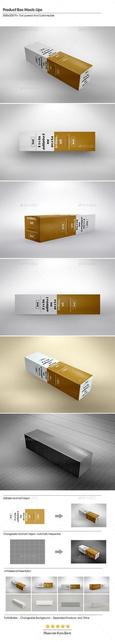 Long Box Product MockUps — Photoshop PSD #hand made #dark • Available here → https://graphicriver.net/item/long-box-product-mockups/15729694?ref=pxcr