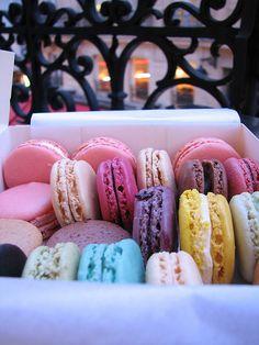 macarons from Ladurée,  Latin Quarter, Paris, France