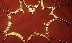 Elegant diamond mangal-sutras in 18K gold. Fresh arrivals for the season.