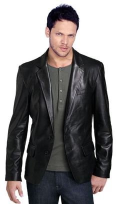 ductile and cozy mens #leather #blazer #online
