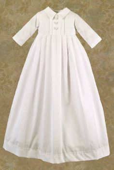 Justin Christening Gown Full-Length Front