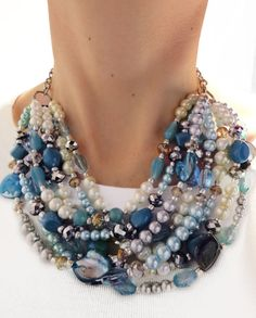 Chunky necklace. Etsy: JewelryByJessicaT