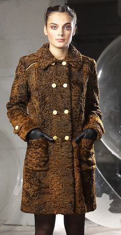 Brown dyed karakul coat www.kailiai.lt