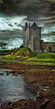 Dunguaire Castle is a 16th-century tower house on the shore of Galway Bay in Galway, Ireland, near Kinvarra. by Artypixall