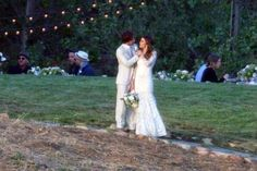 April 2015 - Ian Somerhalder and Nikki Reed Are Married! The Twilight alum, married the Vampire Diaries star, Sunday in Malibu, California, PEOPLE has confirmed. Ian Somerhalder Married, Ian Somerhalder Wedding, Ian Somerhalder Nikki Reed, Lacy Wedding Dresses, Wedding Dresses Photos, Gorgeous Wedding Dress, Wedding Pics, Wedding Ideas, Lace Wedding