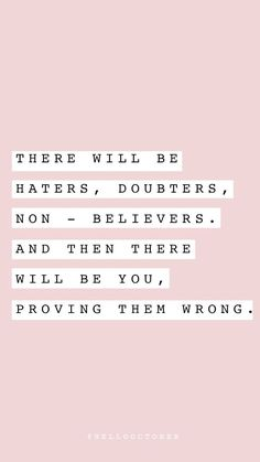 Prove them wrong affirmations Prove wrong Motivation Positive, Positive Quotes, Motivational Quotes, Inspirational Quotes, Positive Vibes, Quotes Motivation, Good Vibes Quotes, Quotes To Live By, The Words