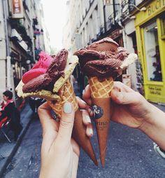 Amarino ice cream shop in Paris, France. Seriously, the best ice cream I've ever had. I Love Food, Good Food, Yummy Food, Fun Food, Cupcakes, Gelato, Yummy Treats, Sweet Treats, Granita