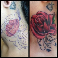 Rose cover up by Chad Whitson-Bearcat Tattoo Gallery-Little Italy-San Diego, CA