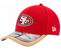 San Francisco 49ers NFL New Era 3930 Sideline Cap new with stickers size S/M