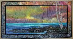 serenity by SeaStrands, via Flickr brilliant tips on the art side of landscape quilting