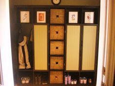 Leave out some shelves and add some doors to the Expedit and voila! Lockers for the mudroom!